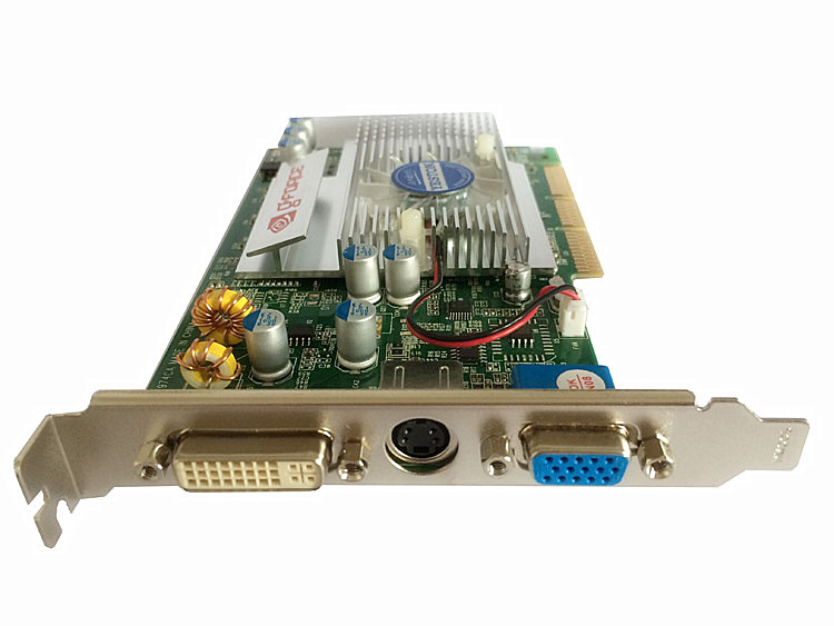 Carte vidéo AGP FX5200 128 M 128Bit prend en charge la carte mère d'interface 8x 4x. - 2