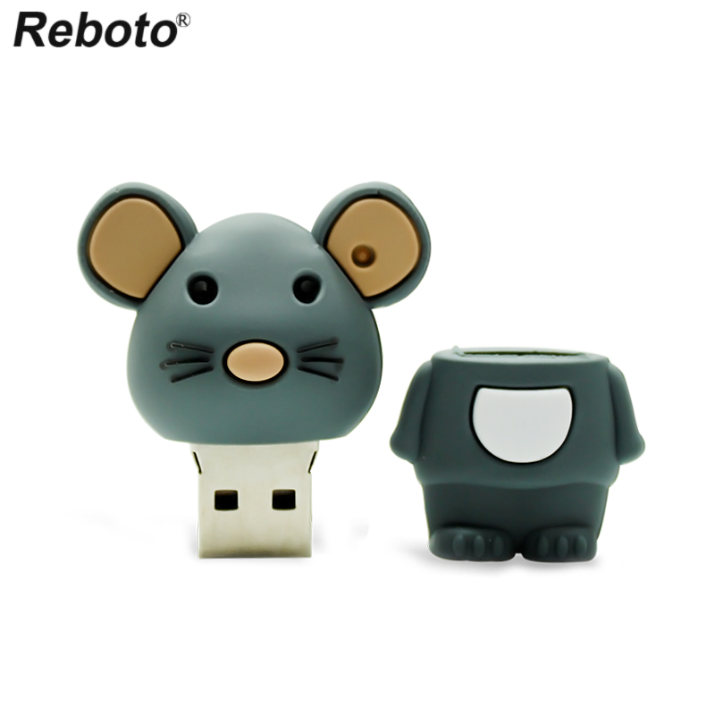 Retobo Pen Drive 4GB 8GB 16GB 64GB 32GB Cute Mouse USB Flash Drive Memory Stick Mini U Disk USB 2.0