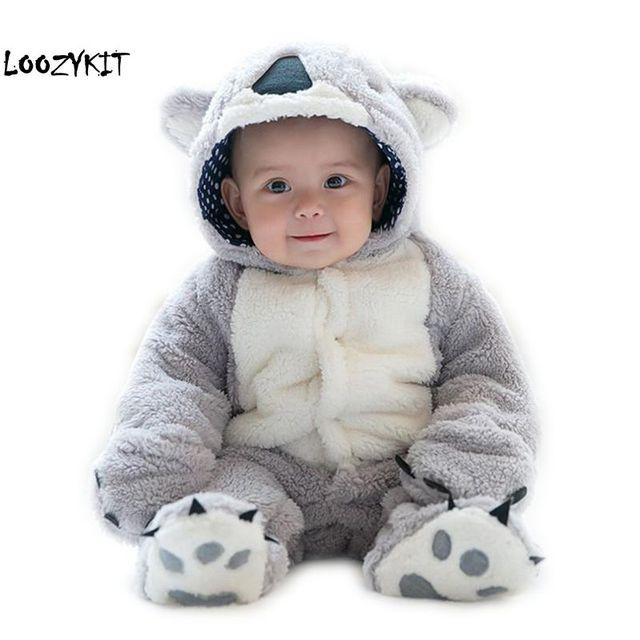 Loozykit, mameluco infantil, Mono para bebés y niñas, ropa para recién nacidos, ropa con capucha para bebés, ropa para bebés con bonito Koala, mameluco para bebés