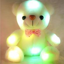 10pcs/lot lKids Toys Brinquedos Gift Luminous Pillow Christmas Toys Cushion Led Light Pillow Plush Teddy Colorful Tedy Bear  недорого