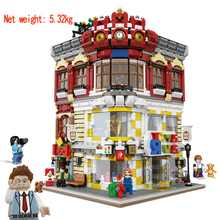 01006 Block 5491Pcs Genuine Creative MOC City Series The Toys and Bookstore Set Building Blocks Bricks Toy Model Gift dhl lepin 05083 star classic wars moc series the nebulon b medical frigate set building blocks bricks funny toys model legoed