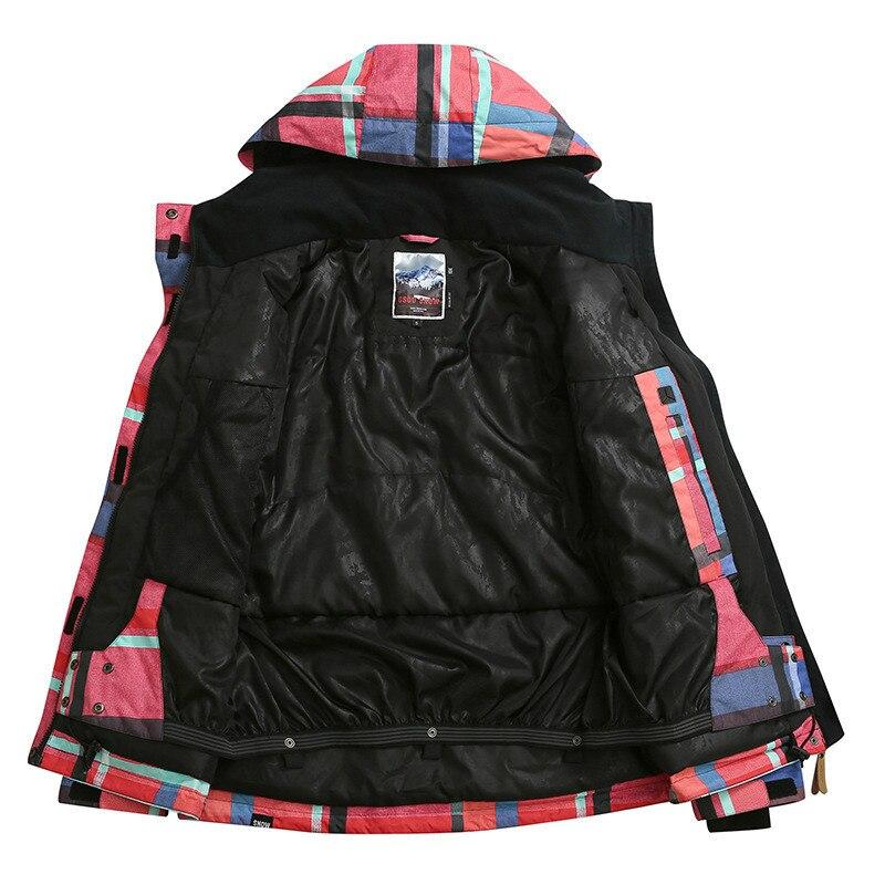 GSOU SNOW veste de Ski extérieure chaude pour femmes coupe-vent imperméable respirant simple Double planche veste de Ski pour femmes taille XS-L - 4