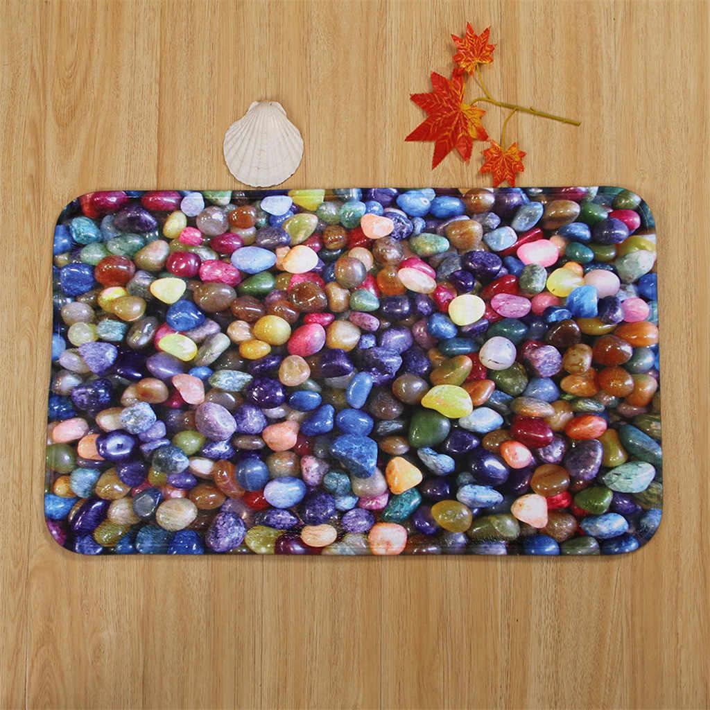 Kolorowe 3 sztuk/zestaw do kąpieli mata toaletowa kamień łazienka antypoślizgowe flanelowe dywan + poszewki na poduszki + mata do kąpieli Home Decor dywan łazienkowy