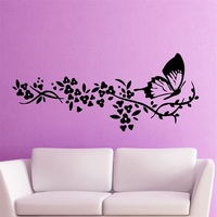 Wall Sticker Vinyl Decal Butterfly Tree Branch Decor Cool Living Room