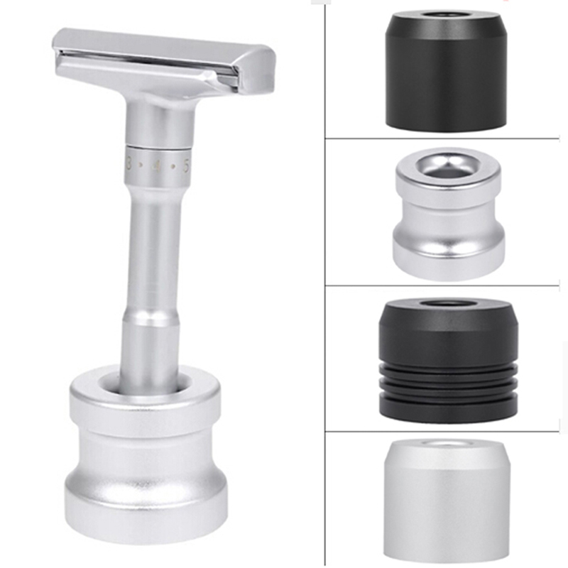 Men Razor Holder Zinc Alloy Shaving Brush Stand Safety Razor It Razor Holder 3.5x3.0cm Razor Rack Salon Barber Tools