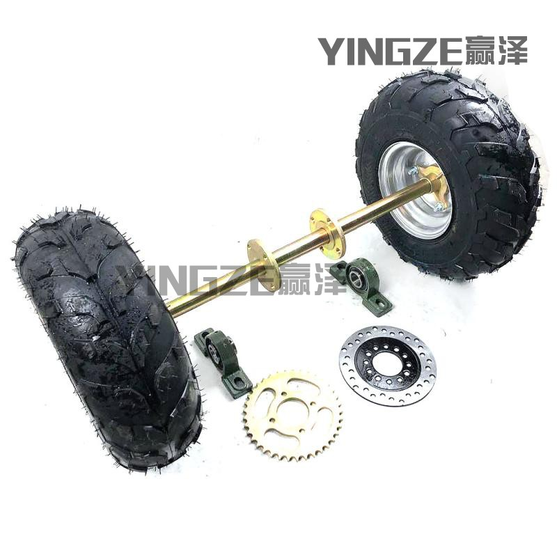 US $65 0 |GO KART KARTING ATV UTV Buggy 65CM Rear Axle Sprocket Brake Disc  Rotor With 6 Inch Wheel Tires-in Go Kart Parts & Accessories from