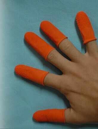 100 unids/bolsa envío gratis extensión del pelo, herramientas para dedo guantes de goma de queratina guantes herramienta de trabajo para proteger el dedo