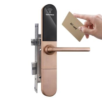 Apartment commercial door locks swipe cards keyless locks with 4pcs AAA batteries powered