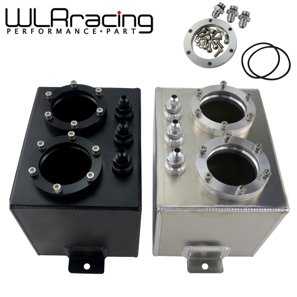 WLR RACING - 3L Dual BILLET ALUMINUM FUEL SURGE TANK / SURGE TANK Without 044 FUEL PUMP SILVER OR BLACK WLR-TK84WLR RACING - 3L Dual BILLET ALUMINUM FUEL SURGE TANK / SURGE TANK Without 044 FUEL PUMP SILVER OR BLACK WLR-TK84