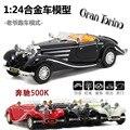 Envío Gratis Vintage modelo de coche 1:24 aleación clásico coche deportivo coche de juguete juguete 289 música ligera