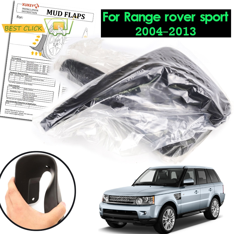 XUKEY FRONT REAR OE STYLED MUD FLAPS FOR RANGE ROVER SPORT L320 2005 2013 SPLASH GUARDS