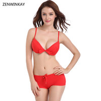 Beach Swim Wear Women Sexy Trikini Push Up Swimsuit 2017 Women S Swimwear Female Shorts Bikini