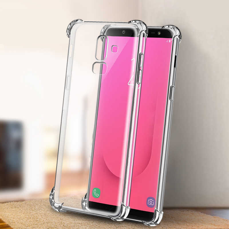 Transparent TPU Case For Samsung Galaxy J4 J6 Plus J8 2018 J3 J5 J7 2017 J2 J4 Core Anti-knock Clear Silicone Phone Back Cover