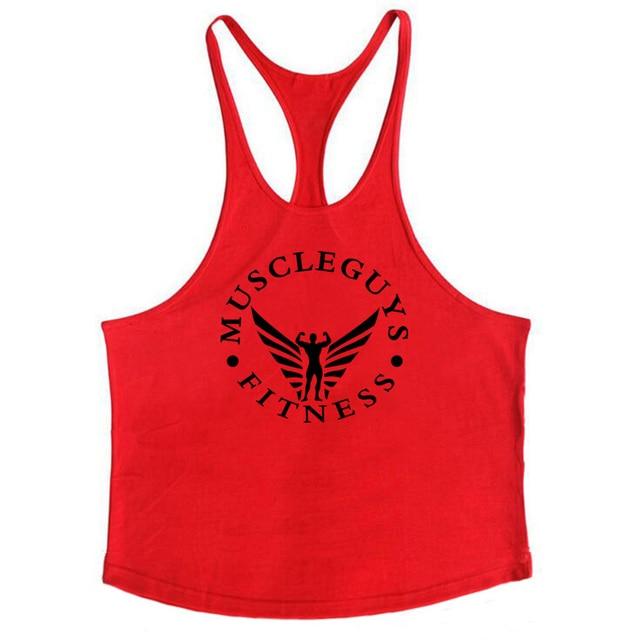 Muscleguys Brand Fitness Clothing Bodybuilding Tank Top Men Gyms Stringer Singlet Cotton Sleeveless shirt Workout Man Undershirt 40