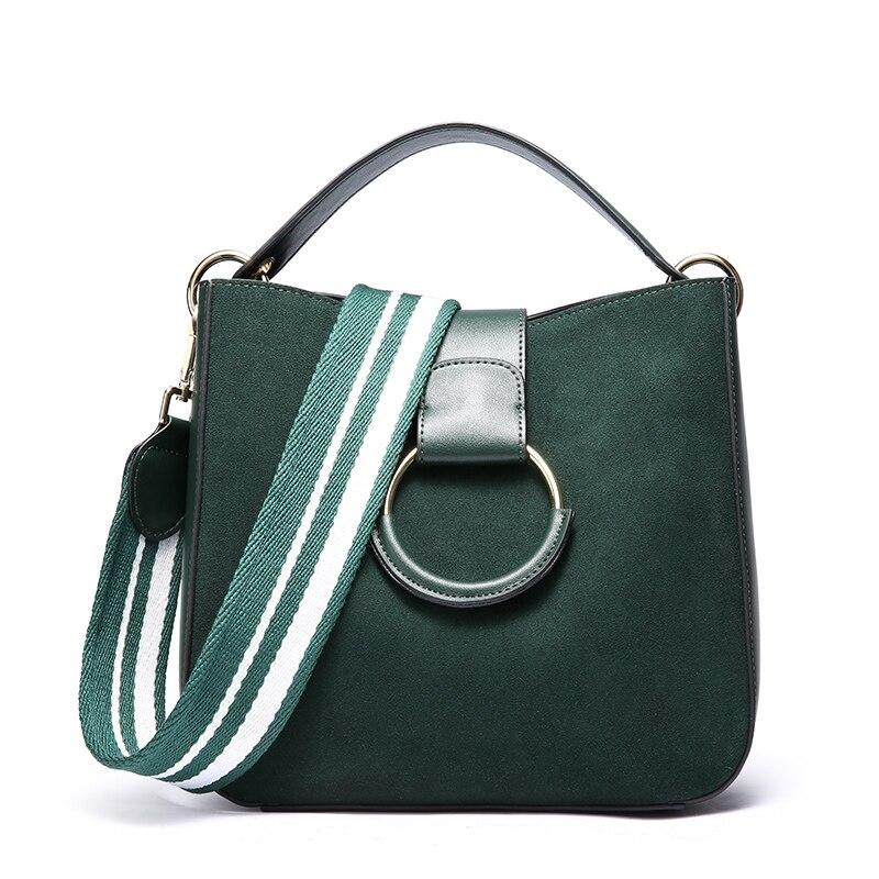цена на Ms. new retro fashion scrub leather shoulder bag Ms. wide strap fashion leather travel bag