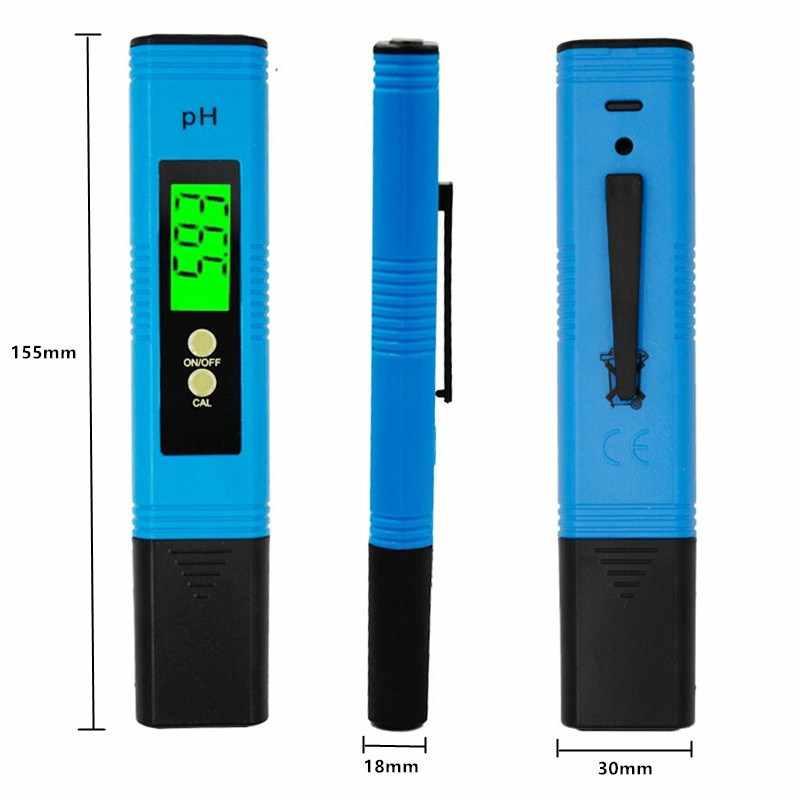 Đèn nền PH Meter ATC 0.01 Thử Nghiệm Nước Uống Rượu Uống Thực Phẩm Chất Lượng Analyzer Bút Màn Hình Tự Động Hiệu Chuẩn cho Hồ Cá Hồ Bơi