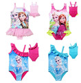 Retail muchacha de Los Niños 2017 del verano Uno Junta Las Piezas swim wear elsa traje de baño Una Piezas mezcla de estilo diferente