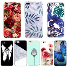 Flower Soft Phone Case For iPhone 6 6s Cases Rose Fundas Silicon Marble Cases For iPhone 7 5s 5 8 8 Plus Cute Floral Cover cheap iPhone 7 Plus IPHONE 6S IPHONE 8 PLUS iPhone 5s Exotic Animal Patterned Abstract Dirt-resistant Anti-knock Fitted Case KALCAS