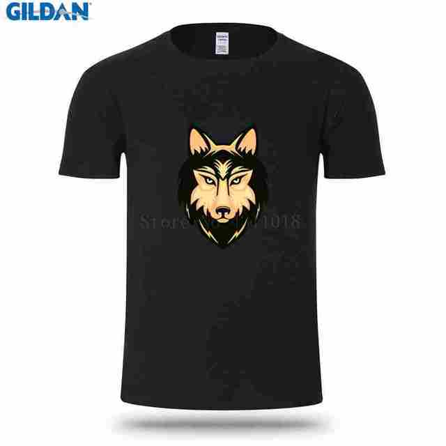 Lucu Kasual Pria T Shirt Ukuran Besar Xxxl Musim Panas Serigala