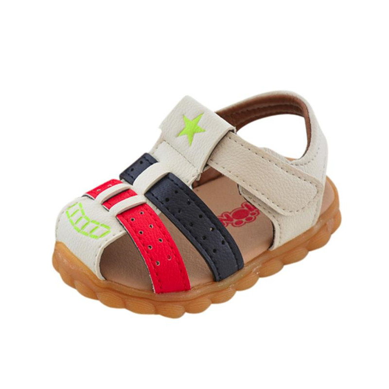 4-MB Baby Boys Fashion Patchwork Sneaker Star Print Children Casual Sandals Shoes