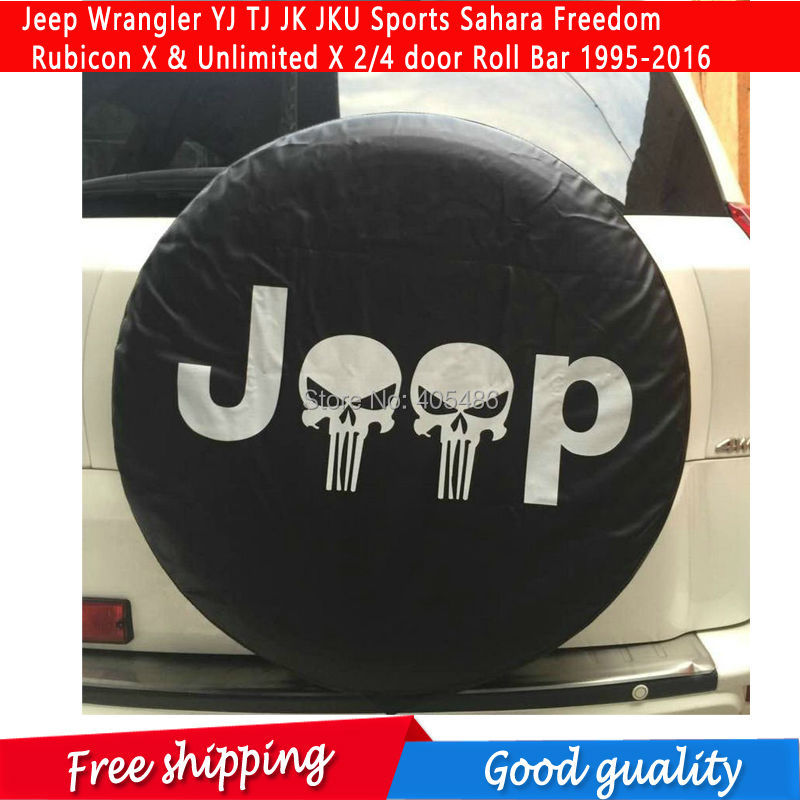 HOT Spare Tire Cover For Jeep Wrangler YJ TJ JK JKU Sports Sahara Freedom Rubicon X & Unlimited X 2/4 door Roll Bar 1995-2016 ...