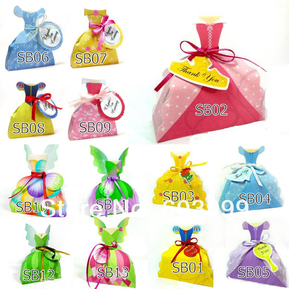 1200 x Princess Dress Gown Favour Boxes Cookie Lolly Candy Box ...