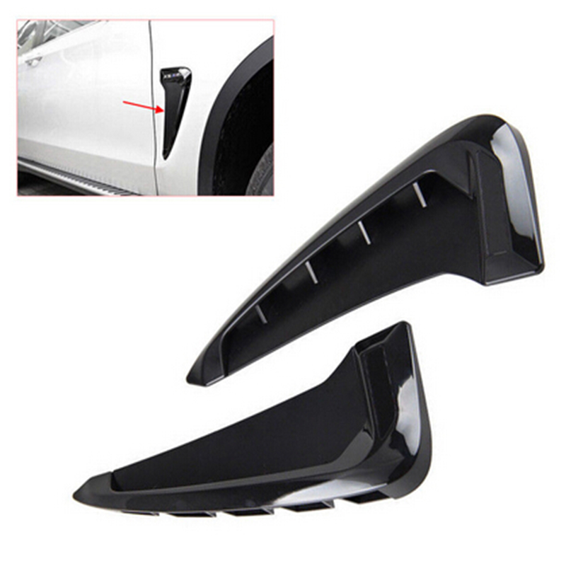 1 Pair Rear Side Wing Air Flow Fender Grill ABS Intake Vent Trim Black For  BMW X5 F15 2014 2015 2016 2017 Auto Accessories