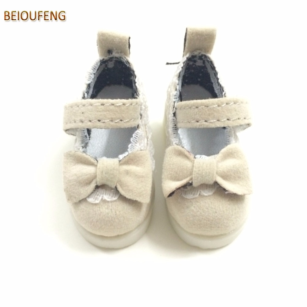 BEIOUFENG Butterfly Design Bow Tie Doll Shoes for 1/6 BJD Dolls,Textile Doll Boots 1/6 BJD Shoes 5CM Sneakers for Dolls 12 Pair