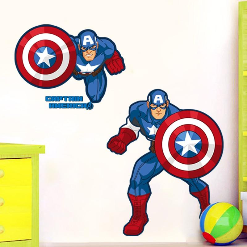 Nine nine wall stick a cartoon superhero avengers alliance toy