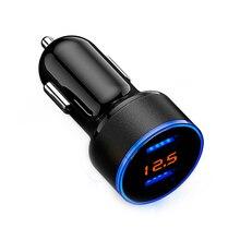 USB Car Cigarette Lighter Car Charger LED Display Cigarette
