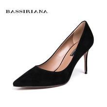BASSIRIANA 2018 New High-heeled Shoes Women Pumps Wedding Fashion Sexy Classic  High Heels free shipping