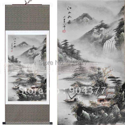 1 piece free shipping chinese scrolls decorative art traditional