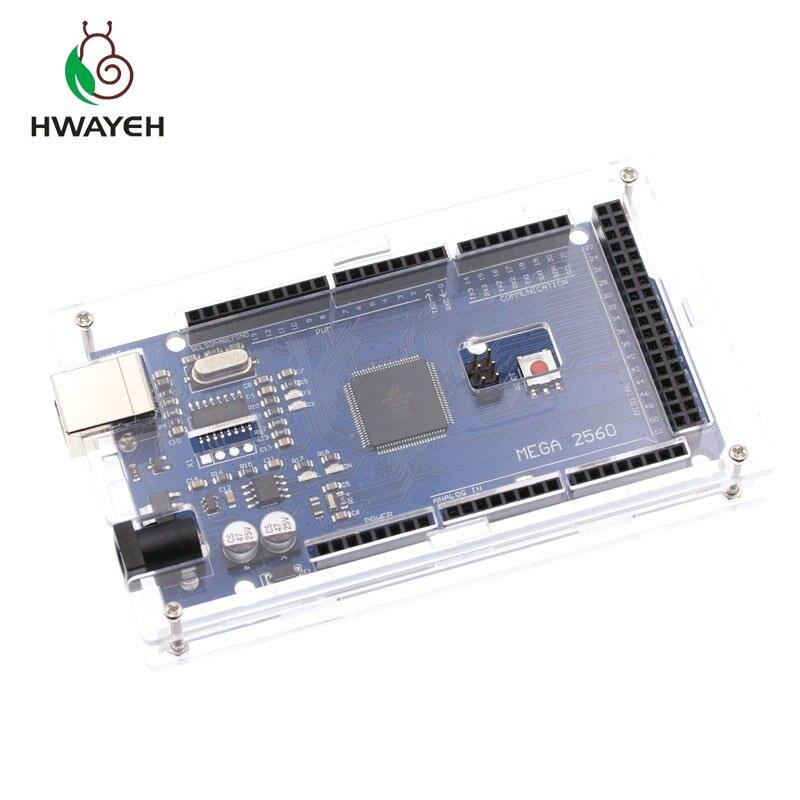 Acrylic Transparent Hard Case Enclosure Compatible with Arduino UNO R3 MEGA 2560 R3
