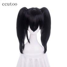 Ccutoo любовь жить Нико Ядзава черный средних вьющихся Синтетический Косплэй волос Искусственные парики теплостойкость Волокно