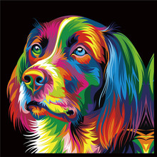 5D DIY Diamond Mosaic painting cross stitch Painting Crafts Embroidery  Decoration Gifts Dog Animal