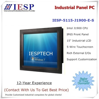 15 inch industrial panel pc, J1900 CPU, 4GB DDR3 RAM, 32GB SSD, provide custom design services