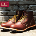 Pathfinder Original Genuine Leather Safety Boots Men Lovers Martin Motorcycle Boots Handmade Lace-up Quality Ankle Boots