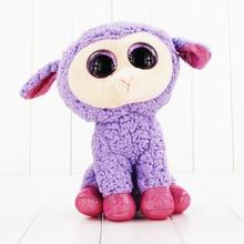 25cm Ty Beanie Boos Big Eyes Plush font b Toy b font Doll Purple Sheep TY
