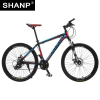 LAUXJACK Mountain Bike Aluminium Frame 24 27 Speed Shimano Mechanic Brake 26 Wheel