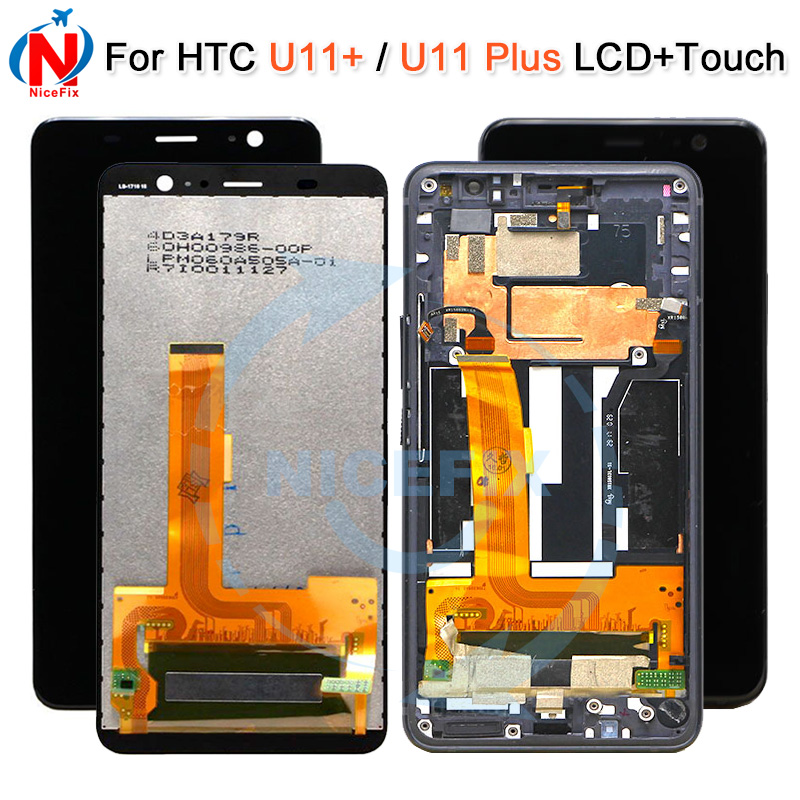 Color : Black Black LCD Screen Mobile Phone and Digitizer Full Assembly for HTC U11 Eyes