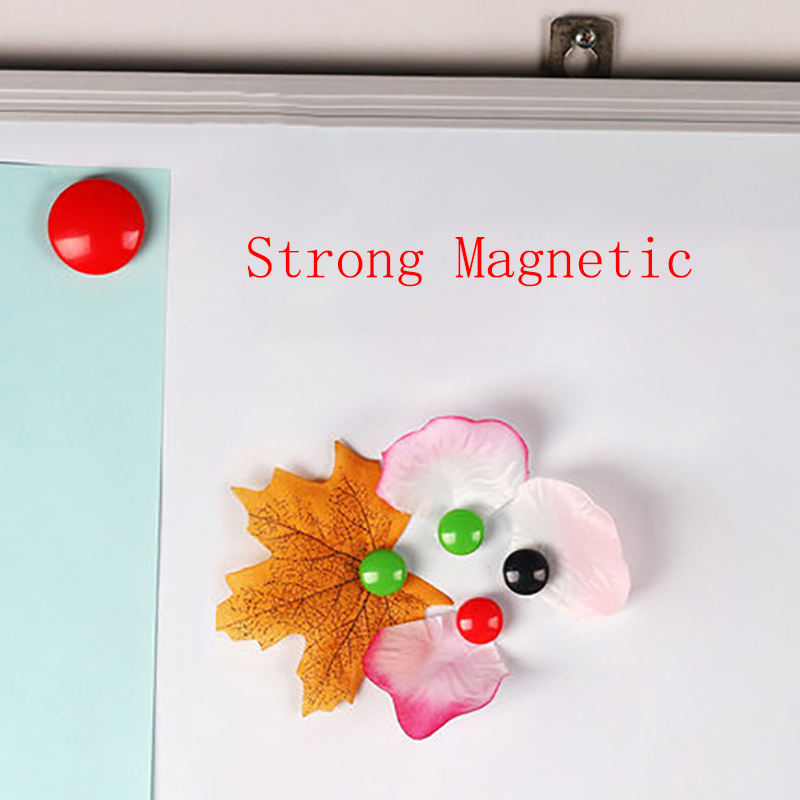 4 PCS Colored Message Cord Board Strong Magnetic Thumb Tacks Kawai Whiteboard Magnet Thumbtacks For White Bord Blackboard Fridge