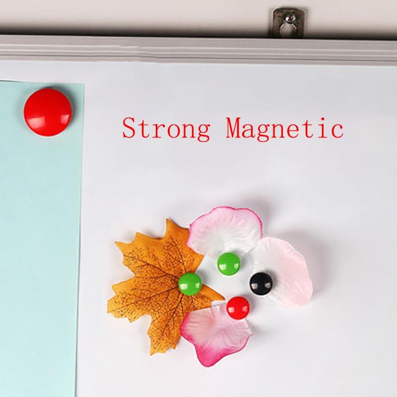 4 PCS Colored Message Cord Board Strong Magnetic Thumb Tacks Kawai Whiteboard Magnet Thumbtacks For White Bord Blackboard Fridge