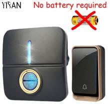 YIFAN New Wireless Doorbell NO battery Waterproof 150M Remote EU Plug led light home Door Bell
