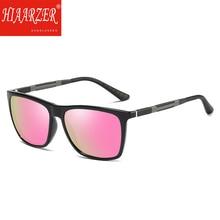 Luxury Polarized Sunglasses Men Classic Women Square Pink Mirror Sun Glasses Aluminium Magnesium Driving Travel Eyewear With Box