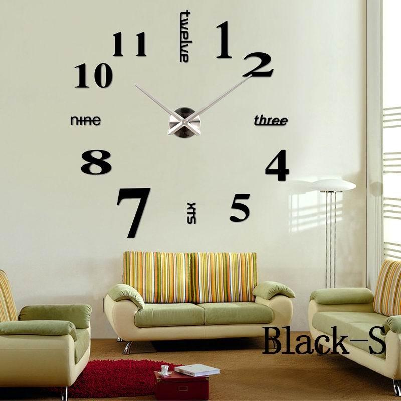 Acrylic Stickers Quartz Home Decoration Big Wall Clock Modern Design