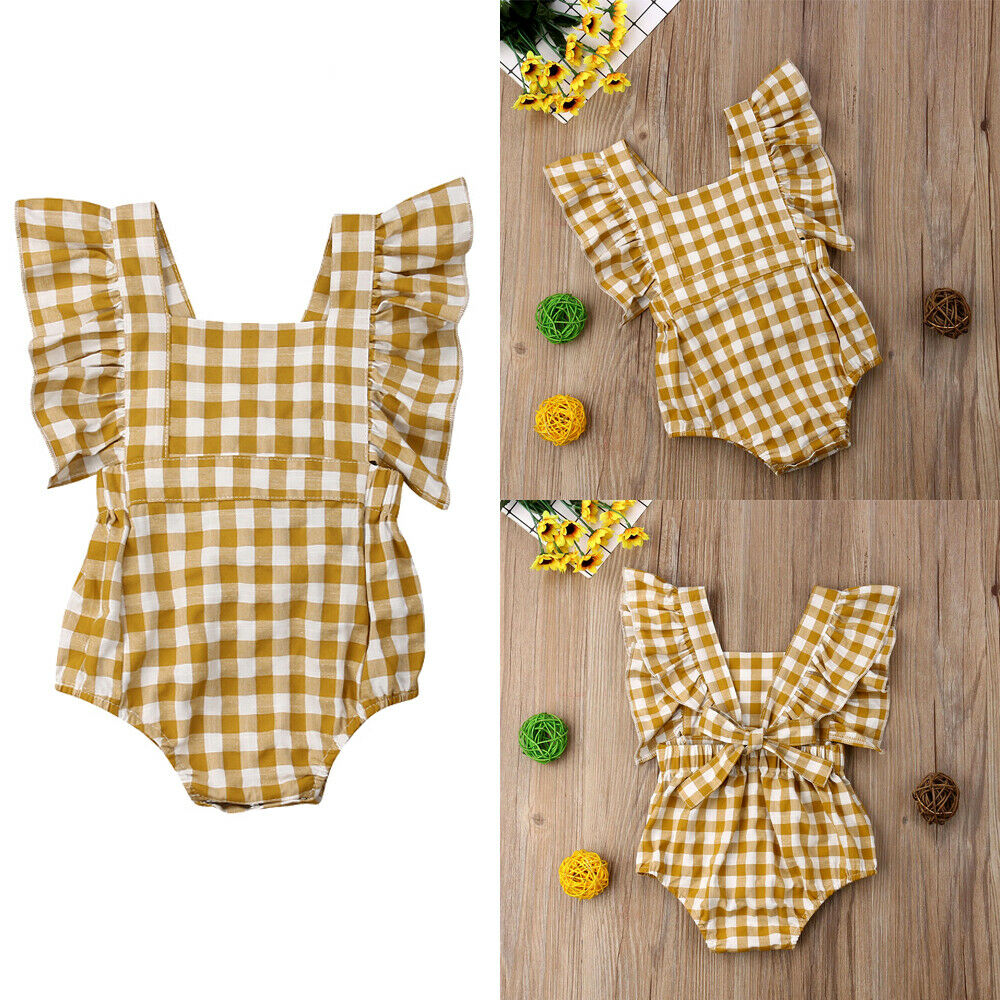 Cute Newborn Infant Toddler Baby Ruffle Romper Jumpsuit Clothes Set Outfit Playsuit thumbnail