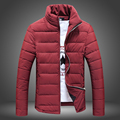 Winter Jacket Men 2015 New Men's Cotton Blend Coats Zipper Mens Jacket Casual Thick Outwear For Men Plus Size 3XL Clothing Male