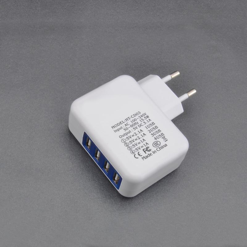 Brorikoy USB Wall Charger Untuk iPhone 6 7 iPad EU Plug 4 Port 5 V 3A - Aksesori dan suku cadang ponsel - Foto 5