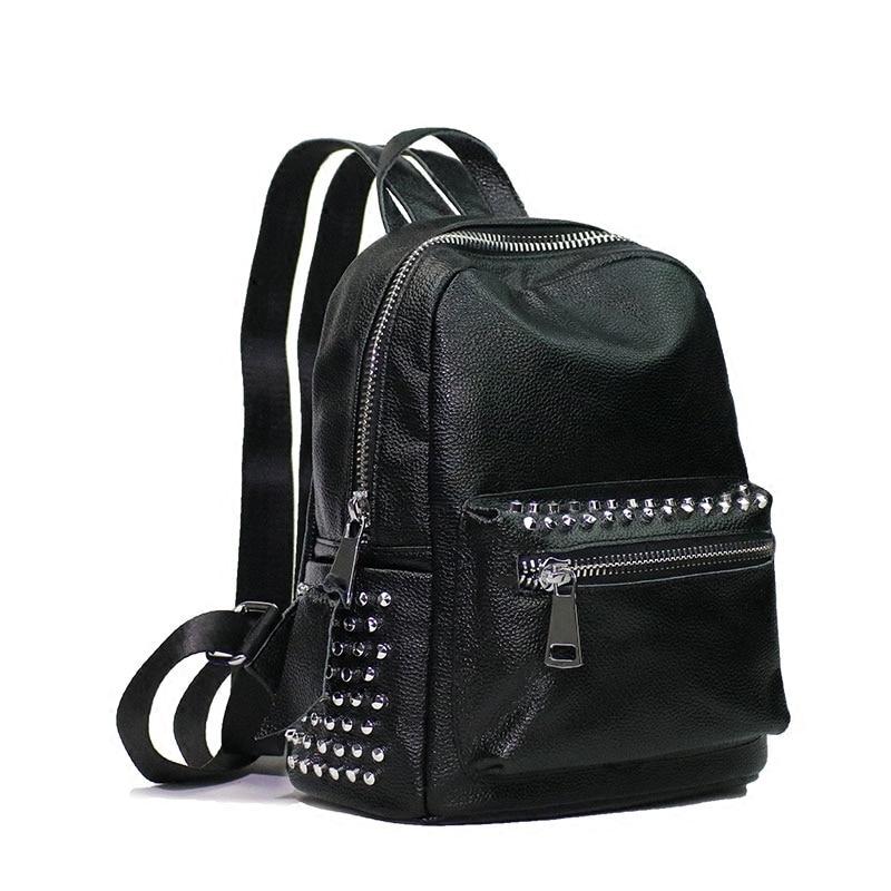 Sacs À Noir Rivet Sac Bandoulière Femmes Femme En Dos Cuir Nouveau Mode Black 2018 Getsring Vintagebackpack Pour Véritable Rw8tHgXqxR