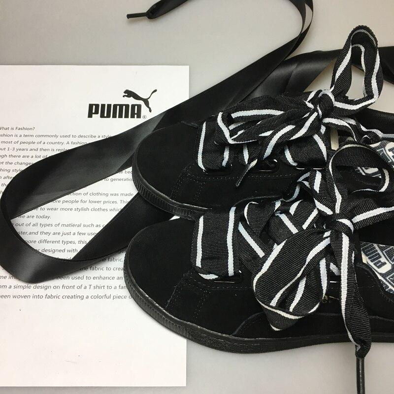 Оригинальный PUMA Замши Сердце Праздновать женщин Кроссовки Лук Бадминтон Обувь Size35.5-40